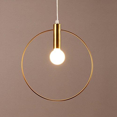 Pendelleuchten Pendelleuchten Creative 1-Light Metall Goldener Ring Pendelleuchte E12 Indoor Dining Lighting