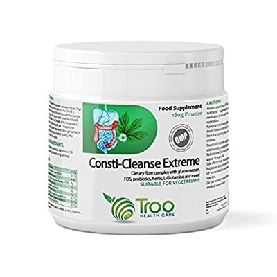 Consti-Cleanse Extreme Powder 180g - Natural Fibre & Probiotic Combination Cleanser Containing Psyllium Husks to Support Healthy Digestion & Colon from Troo Health Care