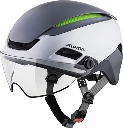 Alpina Unisex- Erwachsene Altona M Fahrradhelm, Silver-darksilver, 57-62 cm