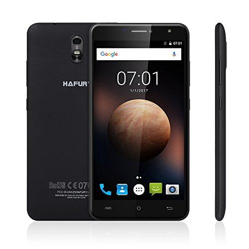 CUBOT HAFURY UMAX 16GB Smartphone Ohne Vertrag mit 6.0 Zoll HD IPS Schirm, 4500mAh Akku, Android 7.0, dual SIM,dual Kamera (13MP + 5MP), WiFi / GPS / 3G (Schwarz)