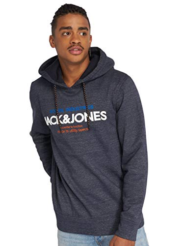 Jack & Jones Jcojacob Hood, Sweat-Shirt À Capuche Homme, Bleu (Sky Captain Detail: Melange), Larg