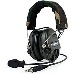 Radio Z-Tactical Z111 Sordin Style Annulation de bruit Ptt Wargame Hunting Headset WorldShopping4U (FG)