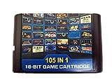 105 en 1 Para el cartucho de juego Sega Megadrive Genesis
