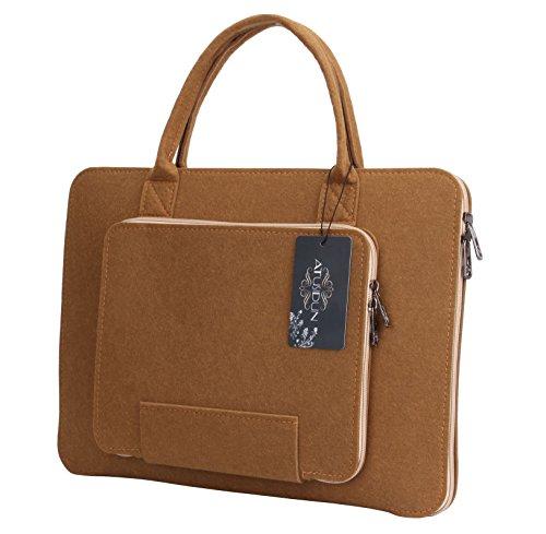 16 Zoll Laptop Schutzhülle Filz Tasche Hülle Sleeve Case Laptoptasche Notebooktasche Khaki