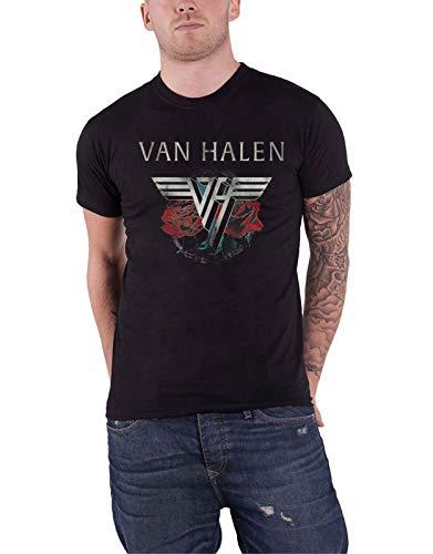 1984 Schwarzen T-shirt (Van Halen Tour 1984 T-Shirt schwarz L)