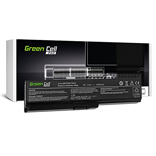 Green Cell Pro Serie PA3634U-1BRS Laptop Akku für Toshiba Satellite A660 A665 L510 L650 L650D L655 L655D L675 L670 L670D M300 M500 U400 U500 (Original Samsung SDI Zellen, 6 Zellen, 5200mAh, Schwarz)