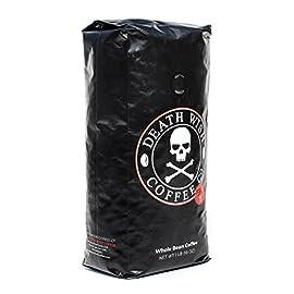 Death Wish Coffee, The World's Strongest Coffee, Whole Bean, Fair Trade, Organic, Shade Grown, 16 oz Bag