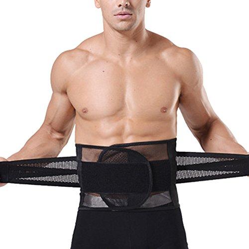Hoyoo Herren, Fitness-Gürtel, Unterstützung für die Taille Trimmer, mit Bauch Shaper Corset, verstellbar, Bauchweg-Gürtel, für Herren, Schwarz, xxl