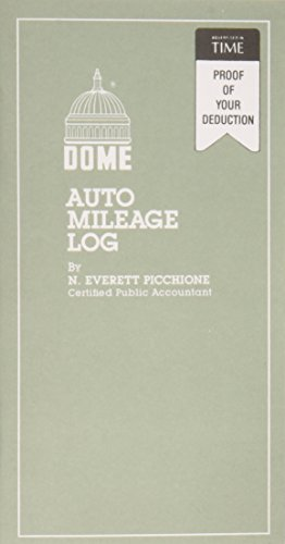 Dome - Auto Mileage Book,12 Mthly Forms,32 Pages,3-1/4