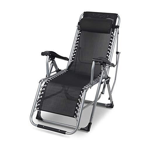 Axdwfd Liegestuhl Lounge Chair, Büro Klappstuhl Mittagspause Chair Strandstuhl Lounge Chair Siesta Chair Lazy Chair 121 * 48 * 115cm