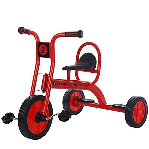 BESTSOON-TGT Trike per Bambini Ragazzi Ragazze Triciclo Bambini Tricicli Bici Trike 3 Ruote Passeggini per Bambini da 3-12 Anni Misura da 6 Mesi a 6 Anni (Colore : Rosso, Dimensione : Taglia Unica)
