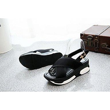LFNLYX Donna Sandali Primavera Estate Comfort PU Casual tacco basso altri Bianco Nero Altri White