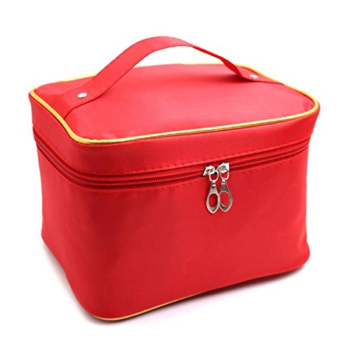 Jia Qing Sacchetto Cosmetico Universale Delle Signore Sacchetto Cosmetico Portatile Multifunzionale Portatile Di Grande Capacità Red