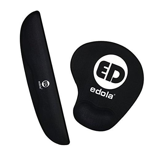 Tastatur-Handballenauflage ergonomisch mit edola Maus, Tastatur mit Handballenauflage mit | ergonomisches Memory Foam Handgelenkstütze für Computer Laptop, Gaming
