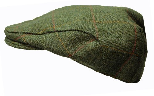 Kinder Derby Tweed Hut Schiebermütze von WWK / Arbeitskleidung King - Dunkelgrün, Medium - (52cm) - (Six & three (Kind Grüne Derby Hat)