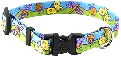 YellowDog Design Standard Butterflies Adjustable Collar, Extra Small,