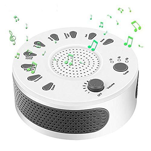 QUARKJK White Noise Machine, Entspannungsgerät zum Schlafen und Entspannen 9 Natur und beruhigende Klänge Schlaftherapie -