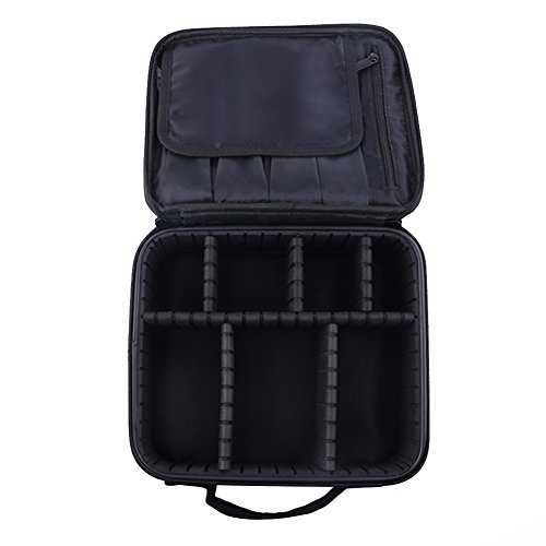 RENZE Professional Kosmetiktasche Portable Travel Make-up Tasche Make-up Pinsel Organizer Makeup Artist Case mit Gurtband Halter Multifunktionale Kosmetiktasche Make-up Handtasche für Reisen & Home Ge (Case Tasche Vanity Handtasche)