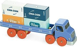 Vilac-2358-Camión-Juguete de Madera con Punta magnética
