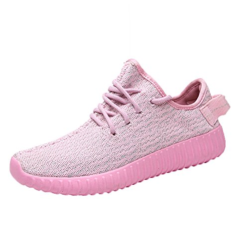 Senhoras Cabos Correndo Sapatos Únicos Esportes Perfil Sapatos Apartamentos Corredores Rosa Sneakers Tênis Esporte