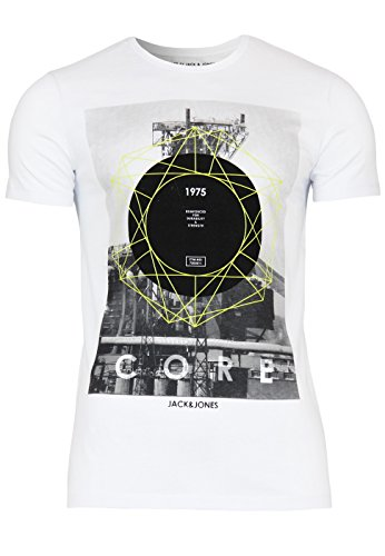 Jack & Jones T-Shirt Jjcocarrol Tee Tall & Slim White / Comb 2