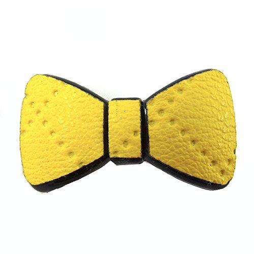 rougecaramel - Accessoires cheveux - Mini pince cheveux fantaisie forme noeud - jaune