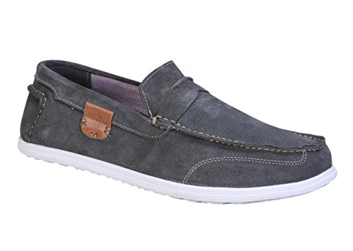 Woodland Men's Dark Grey Loafers - 9 UK/India (43EU)(GC 2211116)  available at amazon for Rs.1257