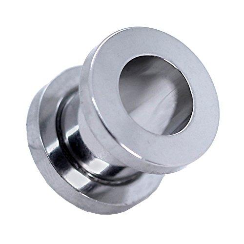 Expansor Túnel Flesh Tunnel Plug Piercing Dilatación Oreja Acero Set o Pieza 1.6 -10mm Color Plata, Farbe2:silberfarben / silver / argent - 2mm