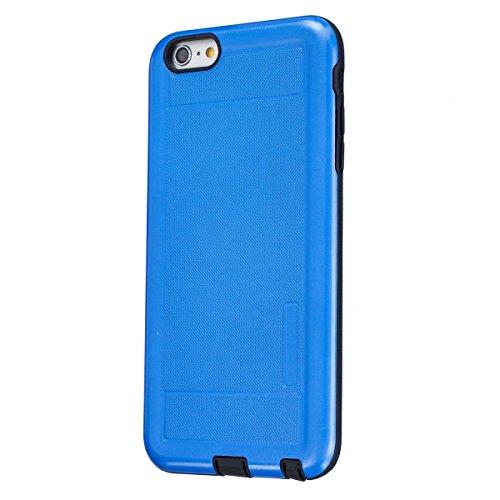 """MOONCASE iPhone 6 Plus / 6S Plus Étui, Double Couche Hybride Soft TPU Intérieur + Anti-Dérapant Coque PC Robuste Anti-Scratch Antichoc Housse Etui de Protection Case pour iPhone 6 Plus / 6S Plus (5.5"""" Bleu"""