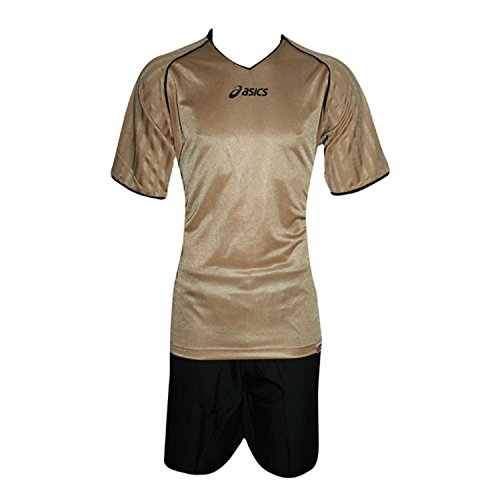 Fußball Kits: Jersey + Shorts Erwachsene Asics Brilliant Schwarz Gold t546z9 L (Asics Jersey-shorts)
