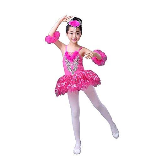 Ballett Tanz Zubehör Mädchen Dancewear Trikotanzug Tutu Kleid Party Kostüme, E