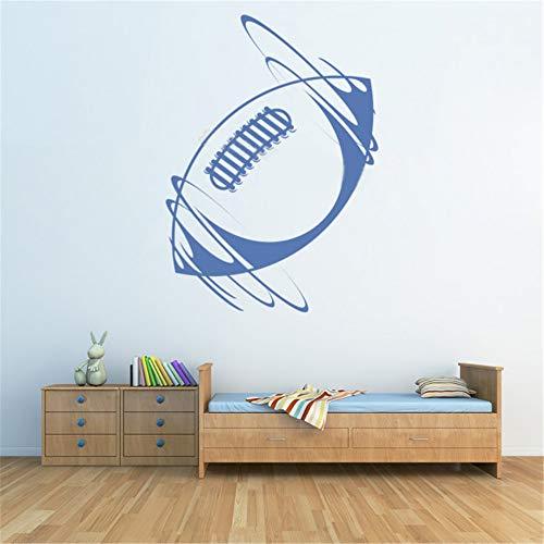 Wandtattoo Schlafzimmer Rugbyball-Sport-amerikanischer Fußball-Ausgangsinnenraum-dekorativer Sportraum Jungenraum