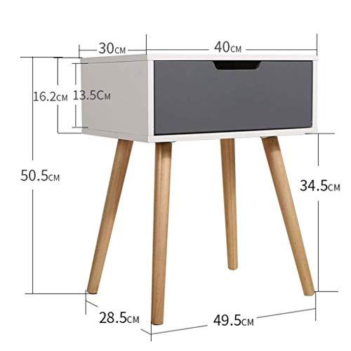 Schlafzimmer Mdf Schrank (Afanyu Afanyu Retro Weiß Nachttisch Nachttisch Schublade Ende Schrank Einheit Sofa Beistelltisch für Skandinavischen Wohnzimmer Schlafzimmer Holz Beine Mdf)