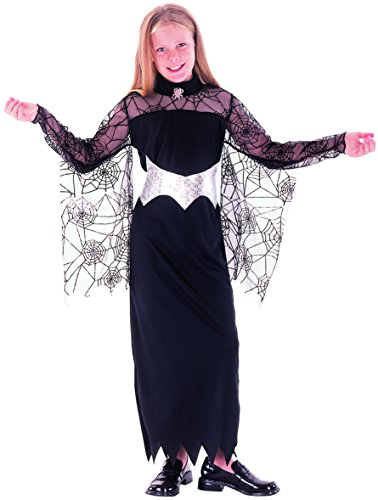 Kostüm Spinnenkönigin für Mädchen 140/152 (10-12 (Kostüm Spinnenkönigin Für Mädchen)