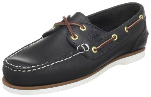Timberland Damen Classic 2-Eye Mokassin, Blau (Navy Smooth), 38 EU (Eye Boat 2 Amherst)