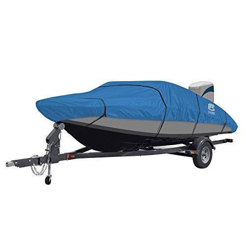 Classic Accessories Stellex All Seasons Boat Cover, Blue, Fits 22' - 24' L x 116