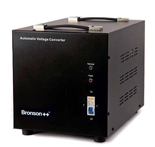 Bronson++ AVT 5000 - 110 Volt Transformator Spannungswandler USA Converter - 5000 Watt - Step Up / Step Down Automatikbetrieb Ringkerntransformator - Bronson 110V 5000W