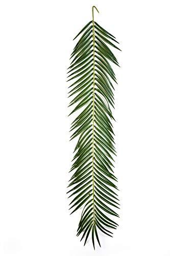 artplants Set 'Künstliche Phönix Palmwedel + Gratis UV Schutz Spray' – Kunstwedel Jaime, grün, 125 cm