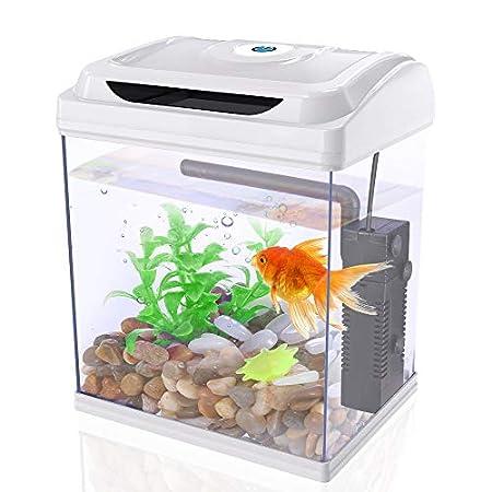DADYPET Aquarium, Mini-Aquarium, Aquarium-Set, Fischzucht-Set für Medaka und Tropische Fische, kleines Aquarium mit…