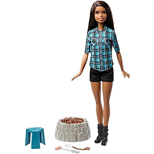 Barbie Schwester Puppe Camping Set, blau - mit Licht und Sound