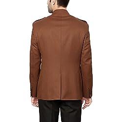 Van Heusen Men's Slim Fit Blazer (8907271440387_VHBZ515M03274_100_Light Green Solid)