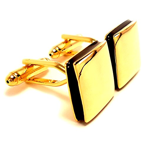 Peluche Classy Golden Square Cufflinks for men