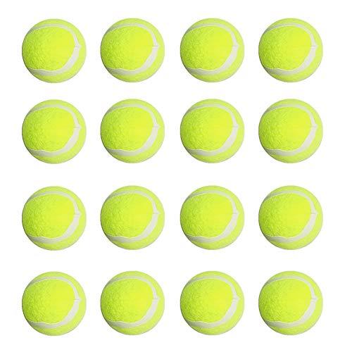 Beito 16pcs Hundetennisball Spielzeug Welpen Interactive Gymnastikball Trainings Spielzeug-Gummi Katze Hund - Hund Tennisbälle