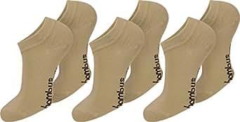 6 Paar Bambus Sneakers mit Piquebündchen Farbe Beige Größe 35-38