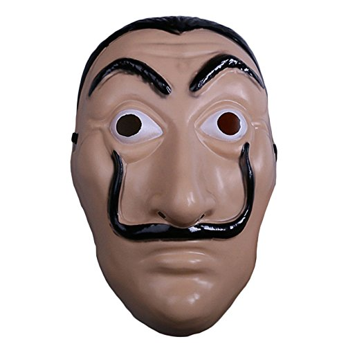 nihiug House of Notes Dali Mask La Casa De Papel Card House Halloween Props Cosplay,A-OneSize