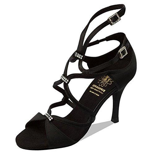 Supadance-chaussures de danse femme-talon 1062 en satin Noir - Noir
