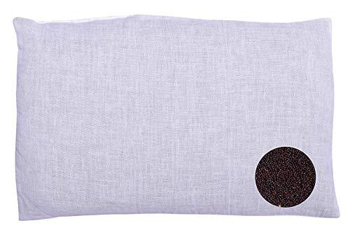 Glus Newborn Baby's Mustard/Rai Filled Pillow with 3 Pillow Covers (Peach+Green+Blue, Children: L)