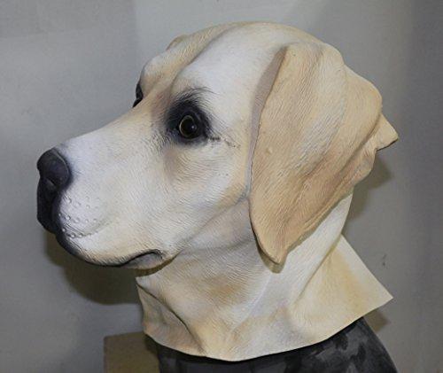 Voller Kopf Latex Hund Maske Kostüm Halloween Tier Hunde 'The Rubber Plantation TM' (Halloween Masken Für Hunde)