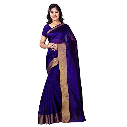 vimalnath Women's solid cotton silk saree