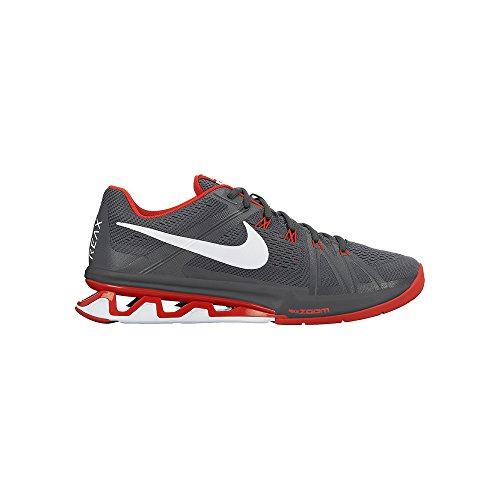 Nike Reax Lightspeed, Chaussures de Sport Homme, Noir (Schwarz) Gris / Blanc / Bleu (Dark Grey / White-Chrcl-Anthrct)